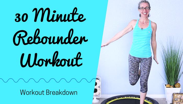 30 Minute SWEATFEST _ All CARDIO 300 Calorie Mini Trampoline Rebounder Workout - BLOG Featured Photo