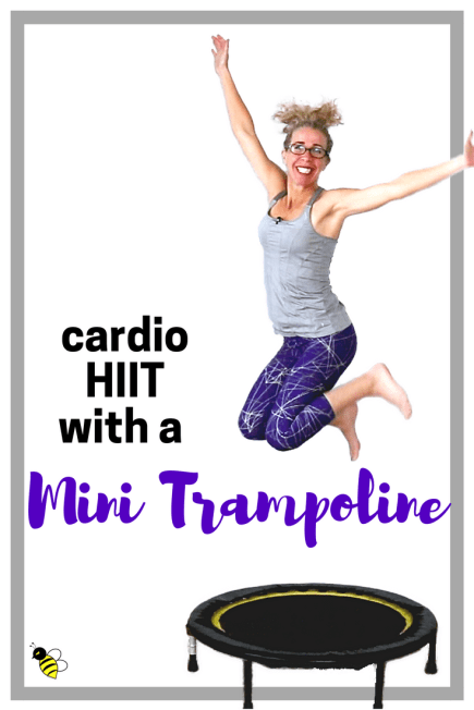 MINI TRAMPOLINE _ 10 Minute Calorie Burning CARDIO HIIT _ Fast and FUN Rebounder Workout at Home FREE on YouTube from Pahla B Fitness