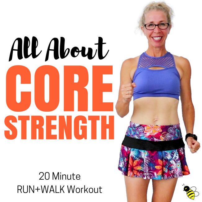 20 Minute Indoor RUN + WALK All About CORE STRENGTH Let's RUN Podcast with Pahla B Podcast Cover