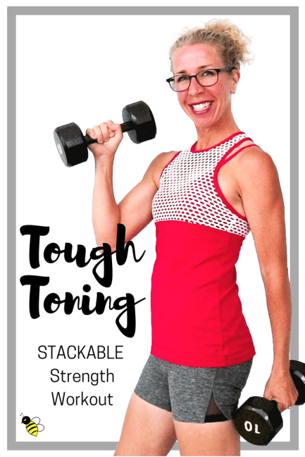 TOUGH TONING Full Body STRENGTH with Dumbbells _ STACKABLE 10 Minute Workout FREE Home Workout on YouTube from Pahla B Fitness
