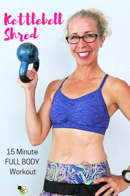 15 Minute KETTLEBELL SHRED Home Workout