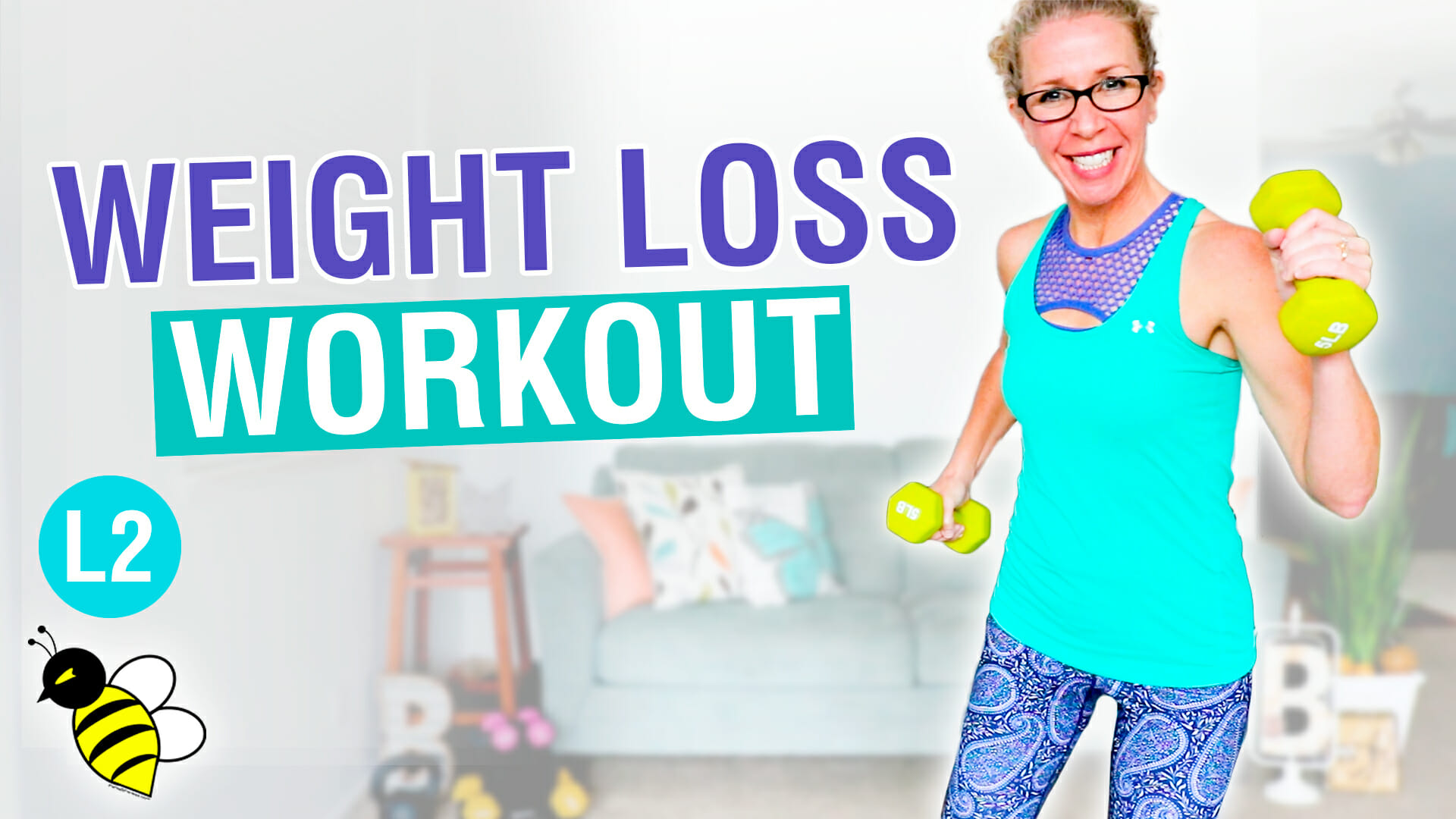 Weight Loss workout for BEGINNERS 30 minute cardio + weights without jumping