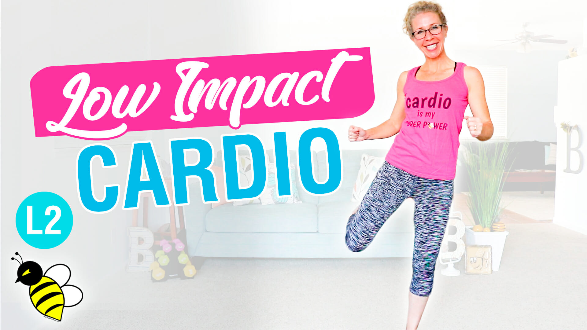 10 minute LOW IMPACT CARDIO endurance workout safe for KNEES + LOW BACK