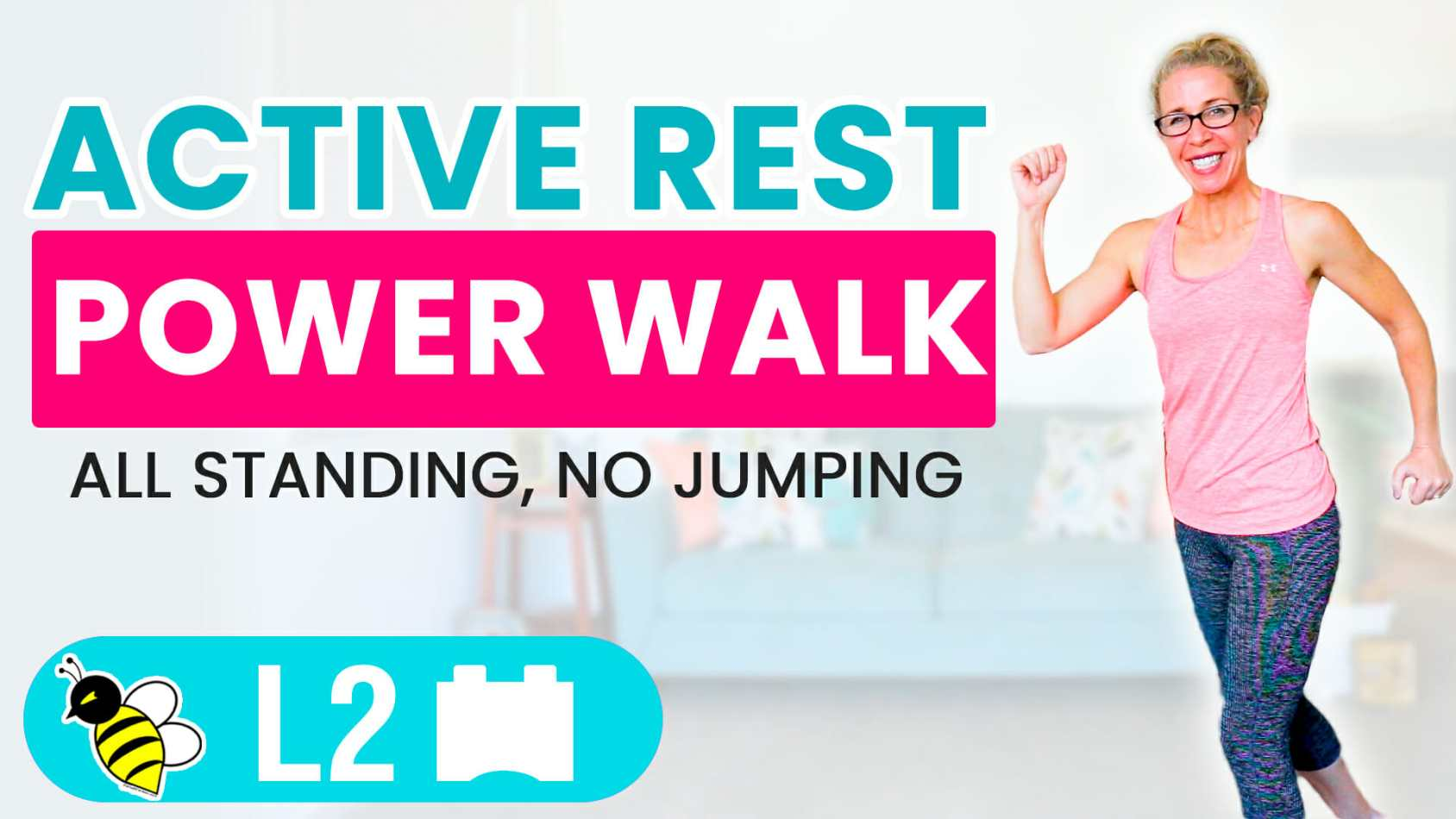 Active Rest Day 10 minute POWER WALK workout