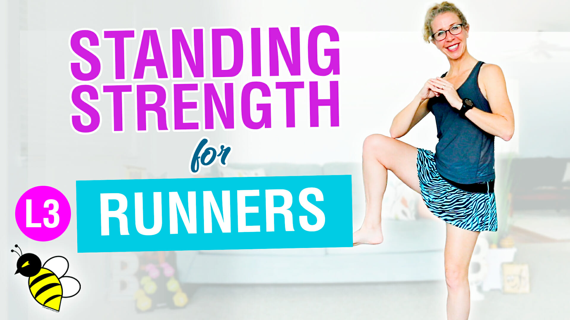 PR STRONG 10 minute STANDING GLUTES + ABS workout for RUNNERS