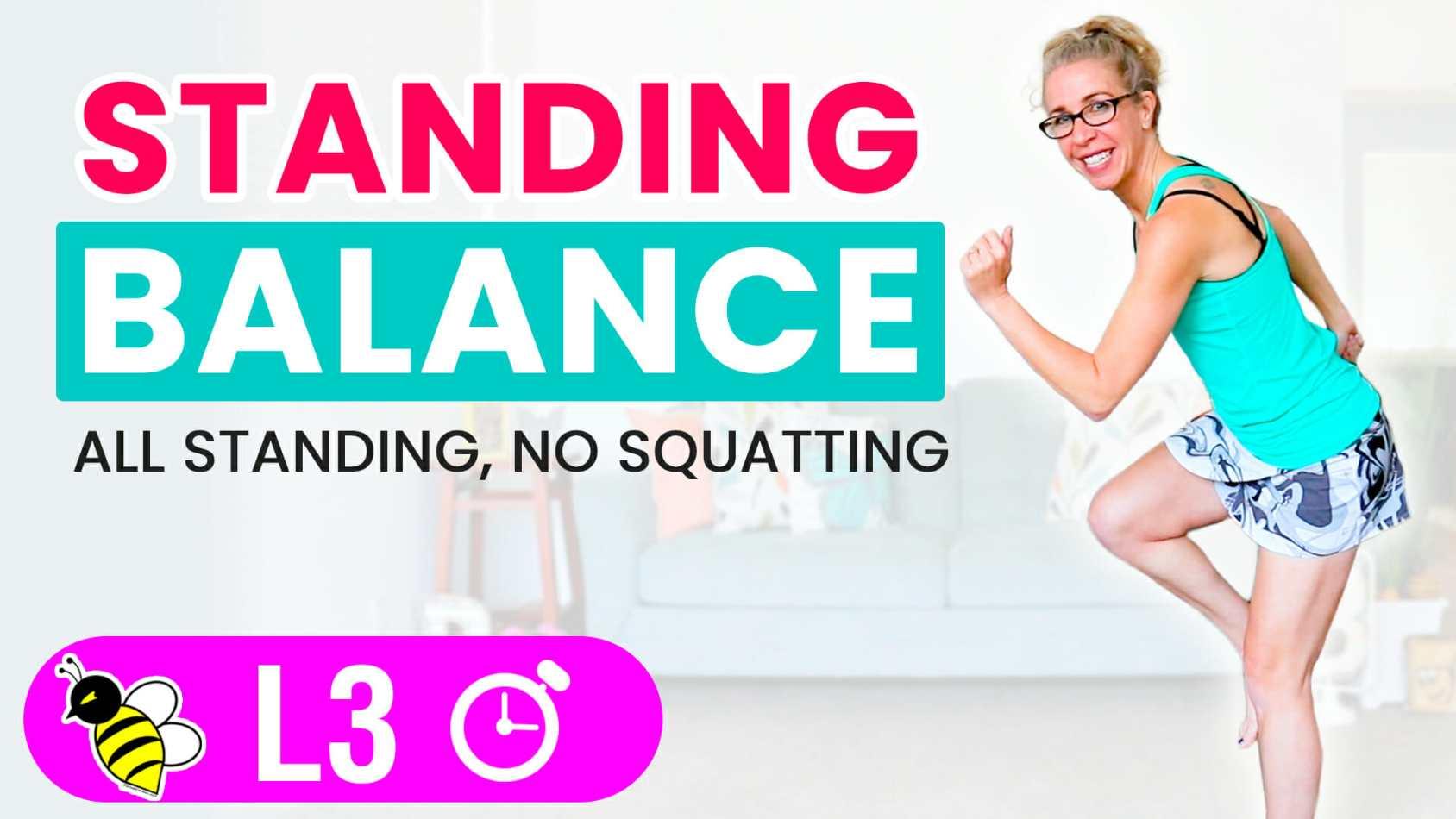 PR STRONG 10 minute standing BALANCE workout