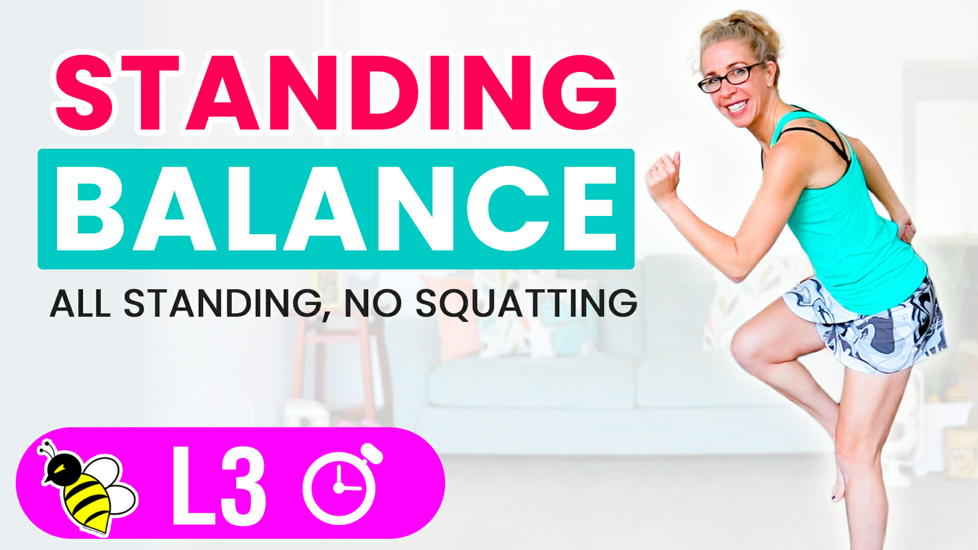 PR STRONG 10 minute standing BALANCE workout