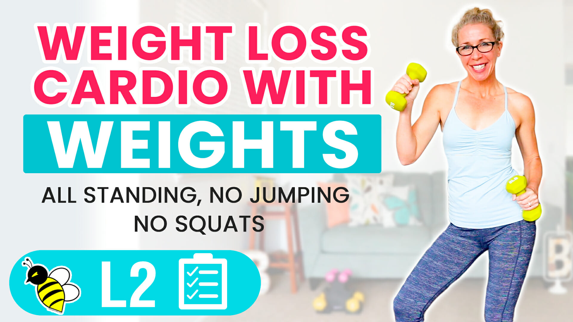 WEIGHT LOSS CARDIO with WEIGHTS 25 minute low impact workout