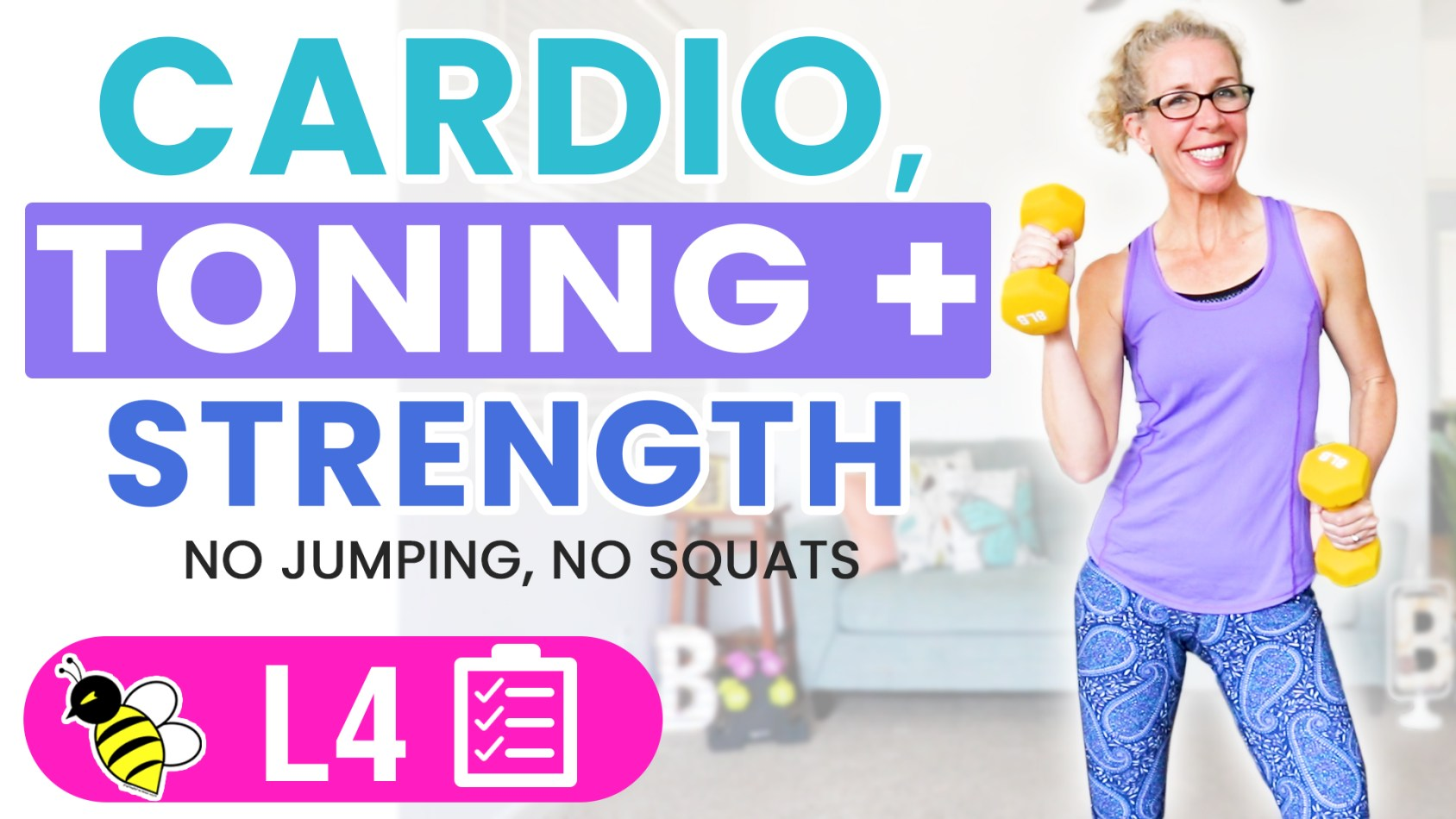 35 Minute Low Impact Cardio, Toning + Strength Workout