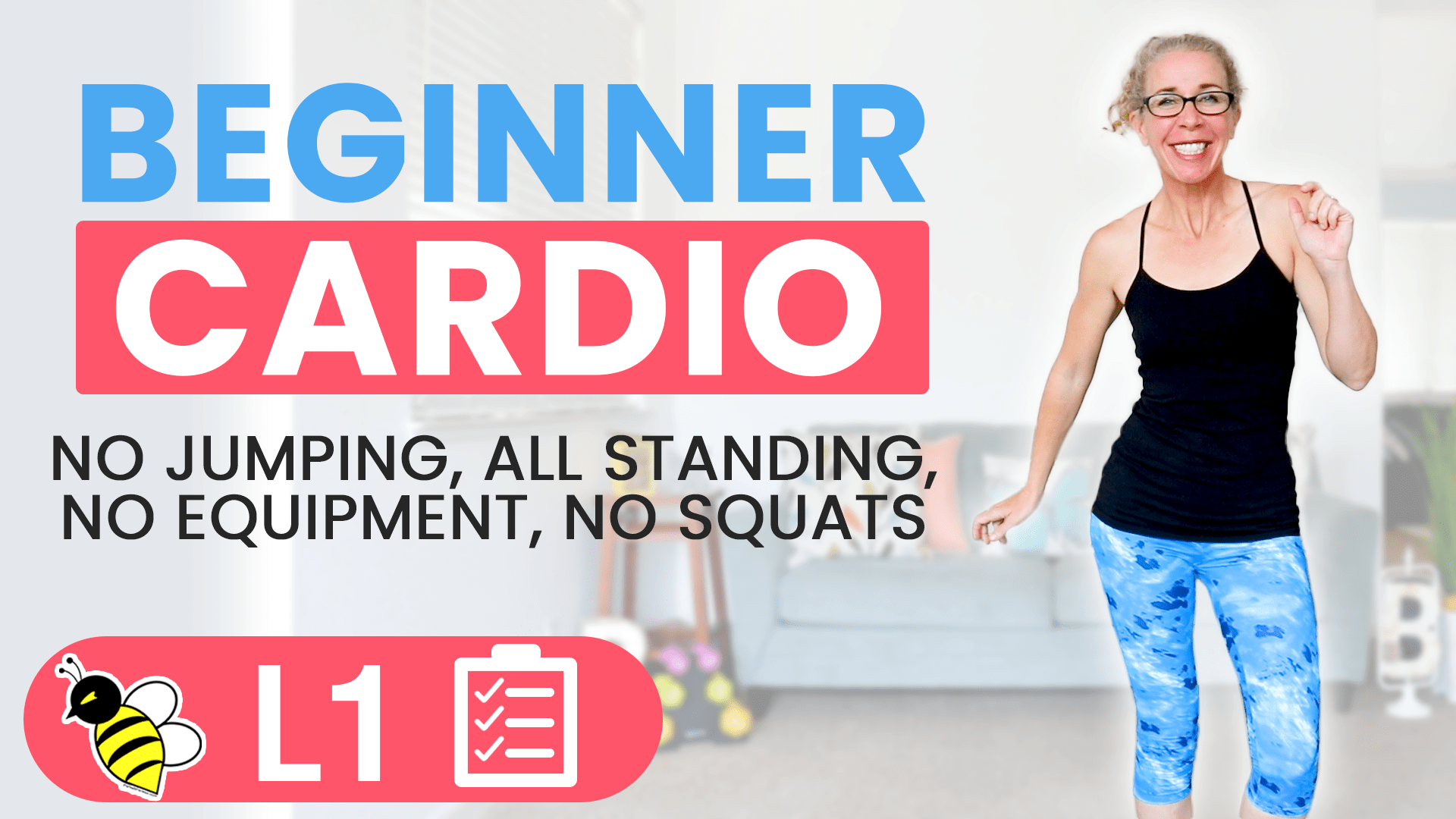 Low Impact Cardio for ACTUAL Beginners 30 Minute Home Workout