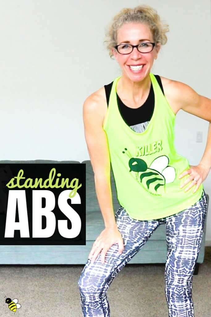 If you've only got 5 minutes to work on your ABS, you might as well make 'em count, right?  This quick STANDING 6-Pack workout targets your abs and obliques with no floor work and no crunches, but plenty of sweat!