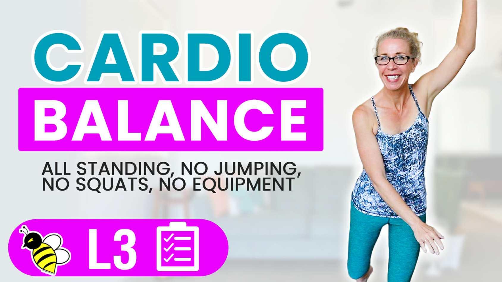 30 Minute Low Impact Cardio Balance, Functional Training for Women