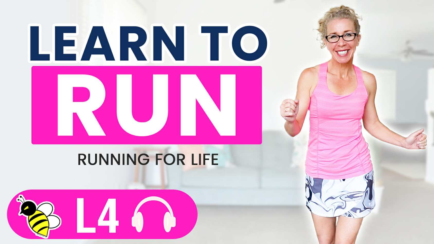 Learn to RUN with Pahla B Running for Life 20 minute steady state run