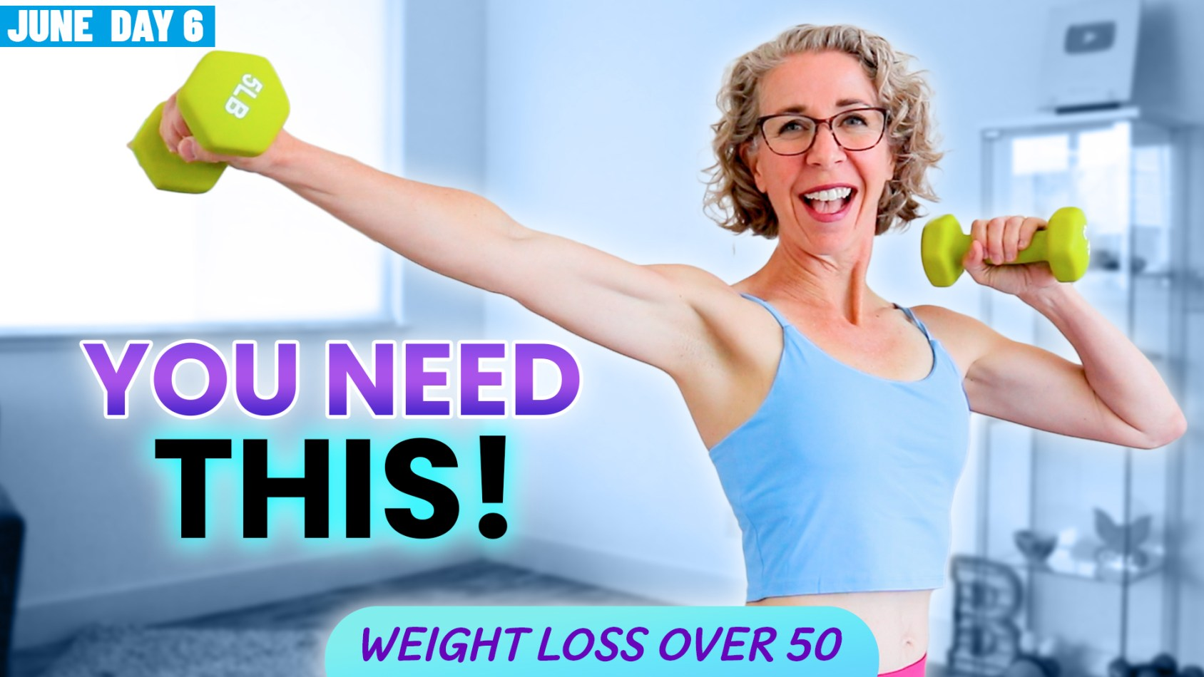 Get STRONG + FIT over 50 ???? Easy WEIGHTS for Beginners