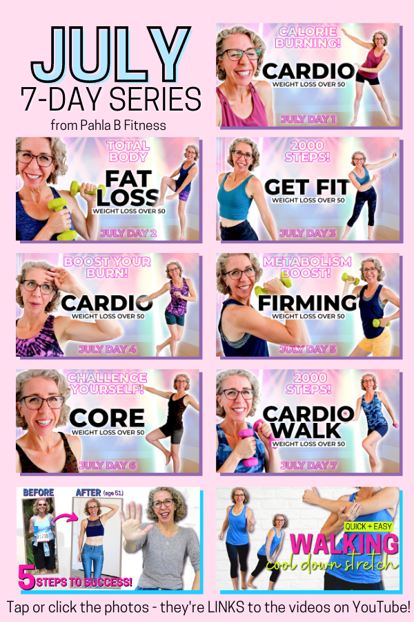 This 7-day challenge is beautifully balanced😇 with a mix of cardio🔥, strength💪, core work⌛, balance practice🤸 and - oh, yes! - FUN🥳!