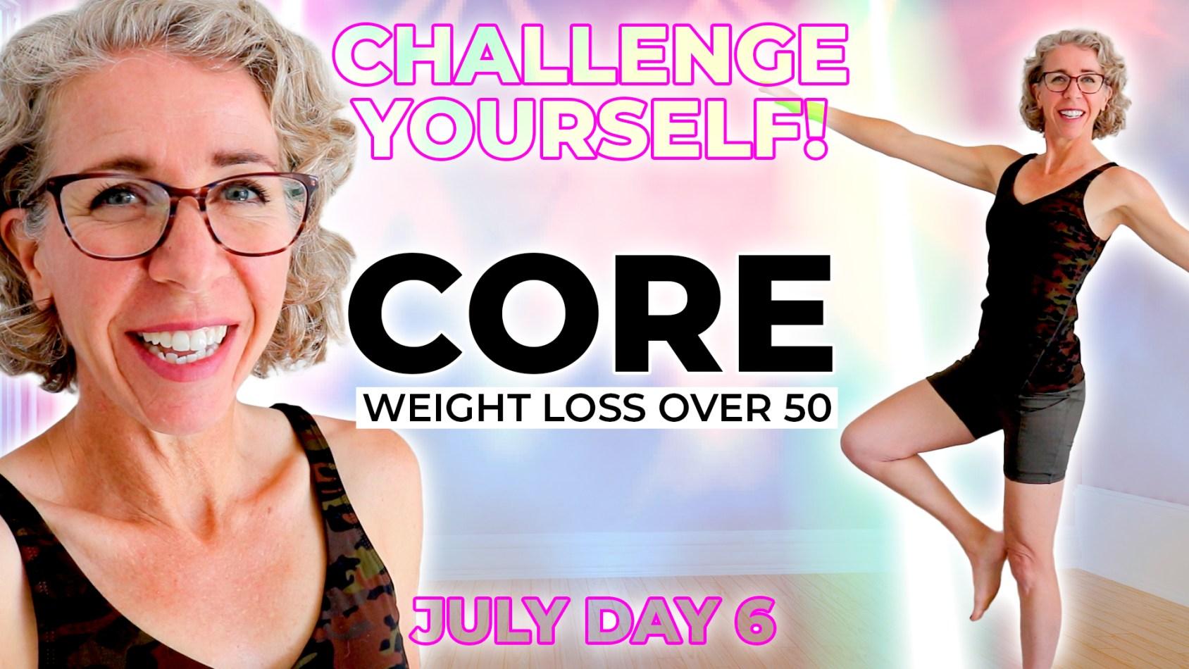 WALKING + BALANCE CHALLENGE, Beginner Core Strengthening Routine