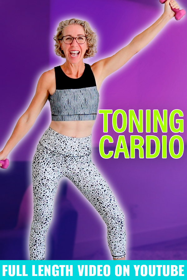 Today is a TIME-SAVING workout that has both LOW IMPACT CARDIO💖 and TONING🔩 all wrapped up in a fun, efficient package🎁!