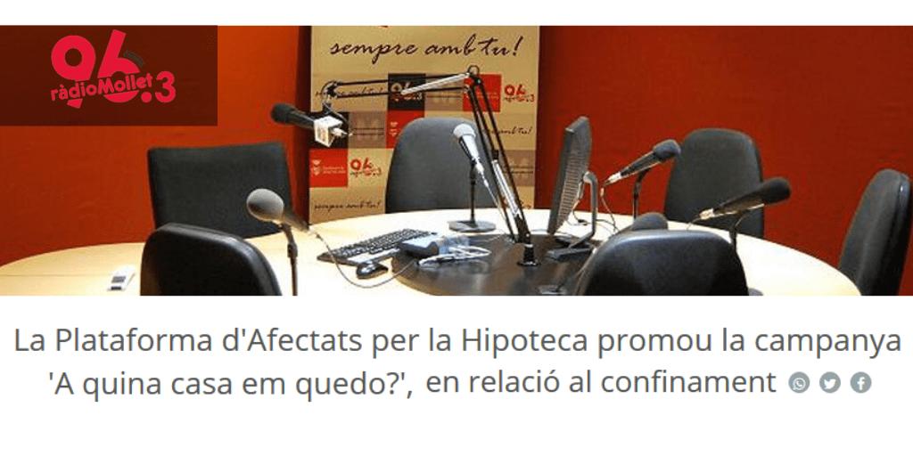 Lee más sobre el artículo La campaña #EnQuéCasaMeQuedo, en Ràdio Mollet