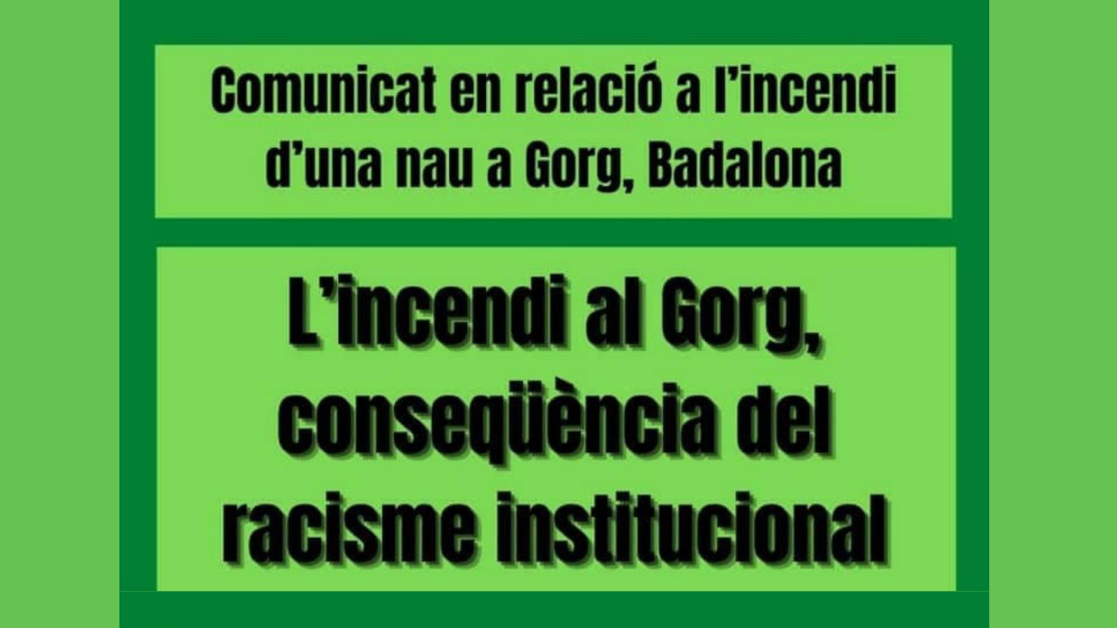 L'incendi al Gorg, conseqüència del racisme institucional