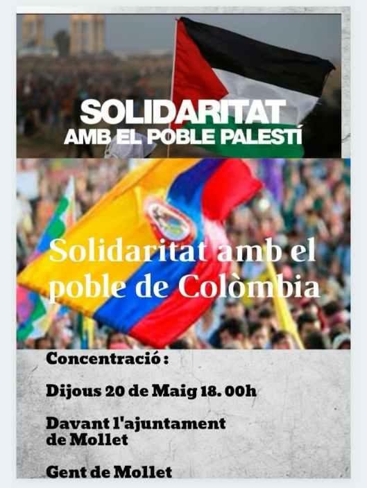 La solidaritat és la tendresa dels pobles, volem que es respecti la dignitat humana arreu del mon.