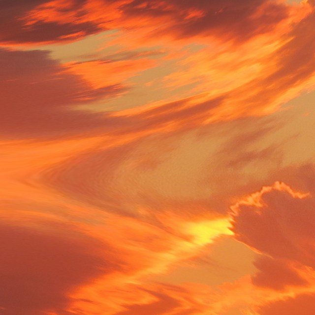 Orange Splash of Clouds