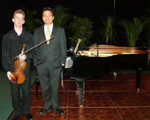 1st Place – Matthew Rigby (Violin – Brisbane) with Christian Gante (Accompanist)
