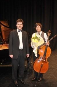 1st Place – Yoshika Masuda (Cello) with Rhodri Clarke (accompanist)