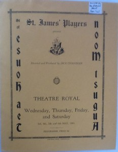 "St James Players ""Tea House Of The August Moon"" programme 1961"