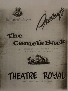 "St James Players ""The Camel's Back"" programme 1963"