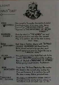 "St James Players ""The Rivals"" programme page 3 1962"