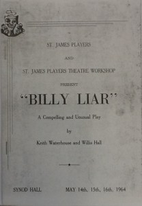 "St James Players ""Billy Lair"" programme 1964"