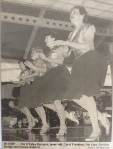 D'Esley Dancers 1998 L-R:Carol Freeman, Pat Carr, Cynthia Budge, and Norma Roberts. (Townsville Bulletin 20 Jul 1998)