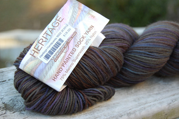 Cascade Heritage Hand Painted Sock Yarn in Color 9922