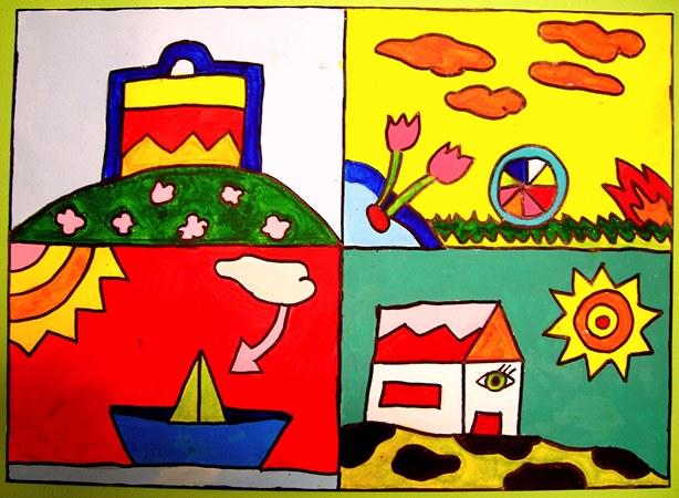 παιδική ζωγραφική, εργαστήρι ζωγραφικής, εικαστική δημιουργία