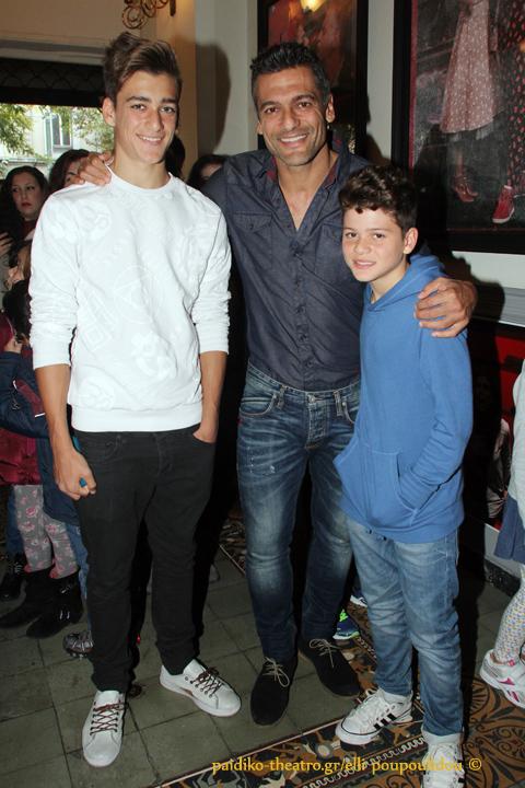 Στέλιος Κρητικός με τους γιούς του