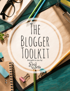 The Blogger Toolkit Paid Write