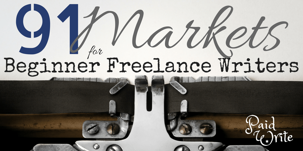 freelance writing markets for beginners