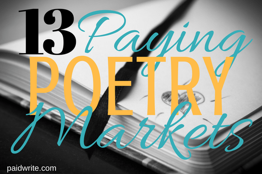 13 paying poetry markets
