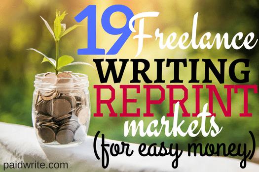 19 freelance writing reprint markets