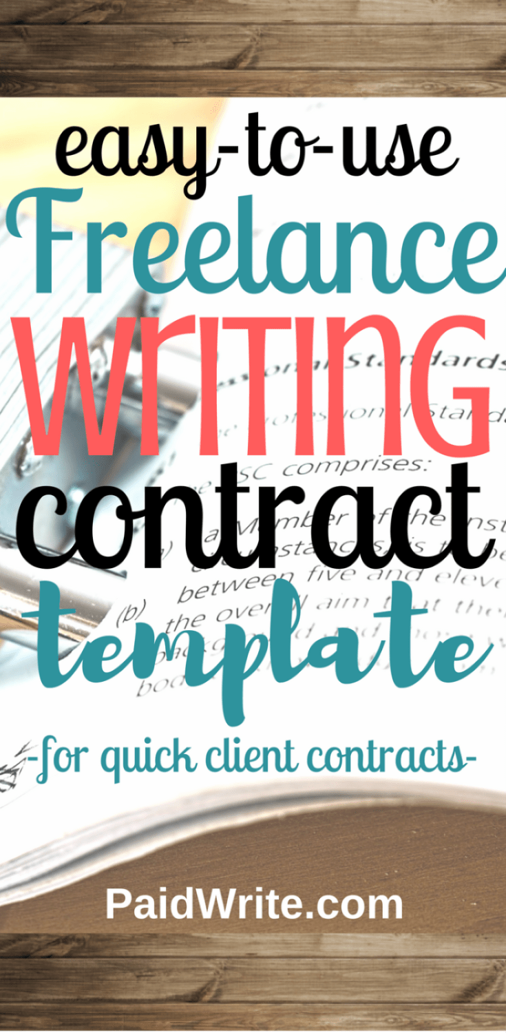 easy to use freelance writing contract template for quick client contracts
