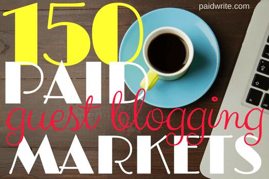 150 paid guest blogging markets