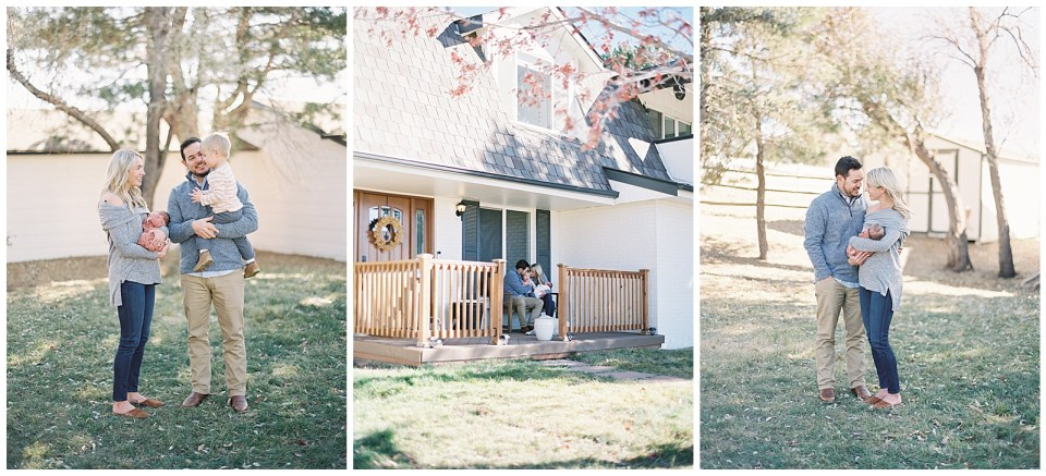 Front porch newborn photography