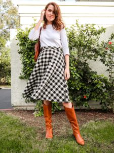 half circle skirt sewing tutorial