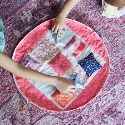DIY Bean Bag Tic-Tac-Toe & Fabric Game Board Bag