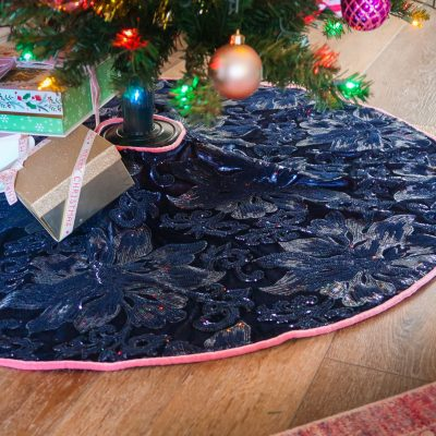 DIY Sequin Christmas Tree Skirt
