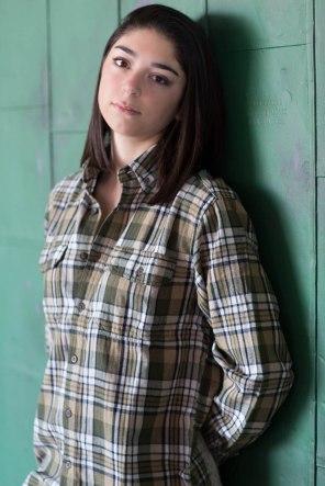 Teen-picture-girl-leaning-against-door