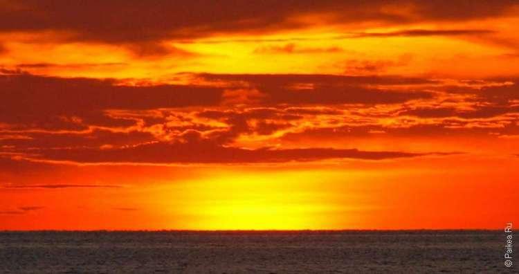 Фото заката на Мальдивах