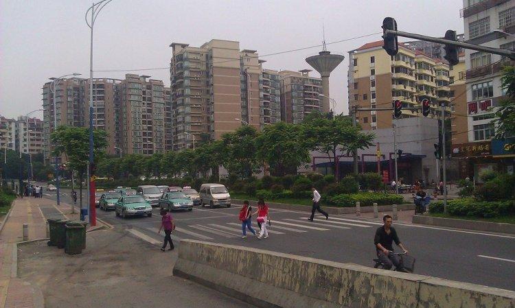 пешеходный переход в гуанчжоу