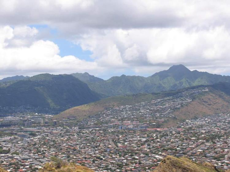 город гонолулу на острове оаху