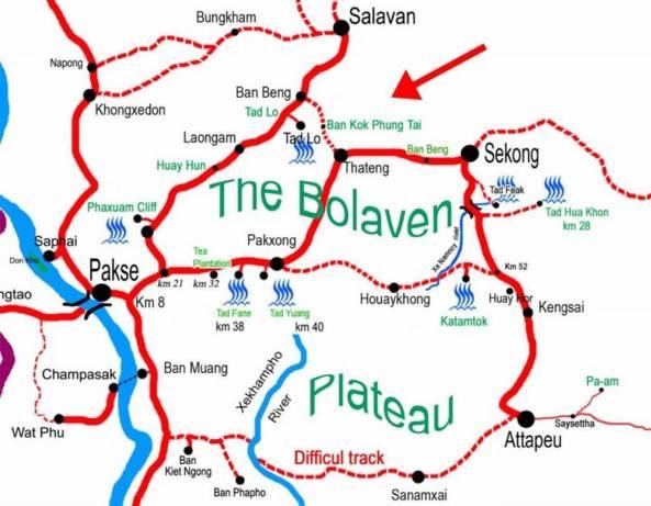 карта плато болавен